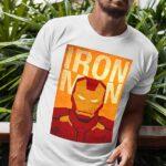 Μπλουζάκι Λαιμόκοψη /Iron man -white